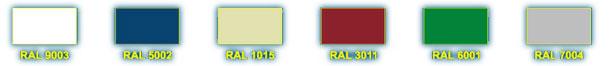 Базовые цвета для стеновых сэндвич панелей